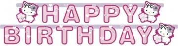 Party-Kette: Geburtstagskette, Charmmy Kitty mit Herzen, 180 x 15 cm - 2