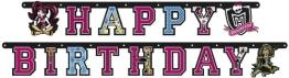 """Party-Kette: Geburtstagskette, Monster High, """"Happy Birthday"""", 180 cm - 1"""