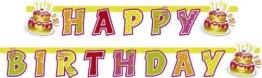 """Party-Kette: Schriftzug """"Happy Birthday, 180 x 15 cm - 1"""