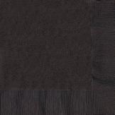 Party-Servietten, schwarz, 33 x 33 cm, 20er-Pack - 1