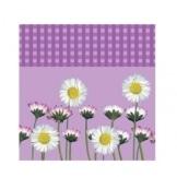 Party-Servietten: Servietten Daisy, Blumenaufdruck, lila, 33 x 33 cm, 20 Stück - 1