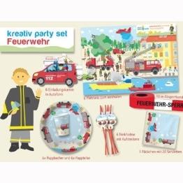 Party-Set, Feuerwehr-Motiv, 51 Teile, Kindergeburtstagsdeko - 1