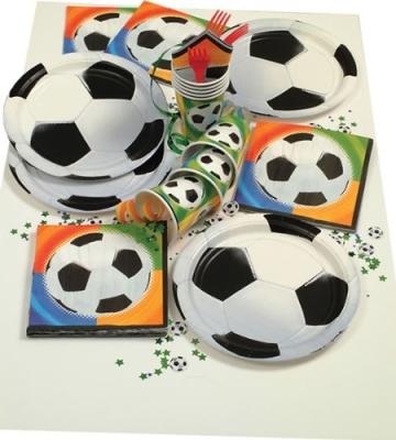 Party-Teller, Fußball-Motiv, 23 cm Durchmesser, 8er-Pack - 2