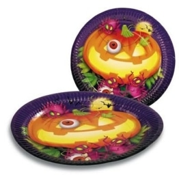 Party-Teller HALLOWEEN 8er-Pack, Tischdeko - 1