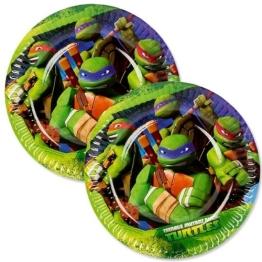 "Party-Teller: kleine Pappteller, Motiv ""Teenage Mutant Ninja Turtles"", 18 cm, 8 Stück - 1"