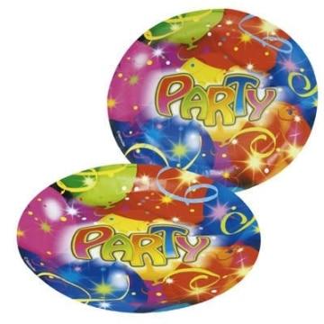 """Party-Teller: Pappteller, """"Ballon-Party"""", 23 cm, 8er-Pack - 1"""
