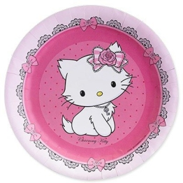 Party-Teller: Pappteller, Hello Kitty/Charmmy Kitty, 23 cm, 8er-Pack - 1
