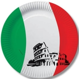Party-Teller: Pappteller, Italien-Design, 23 cm, 10er-Pack - 1