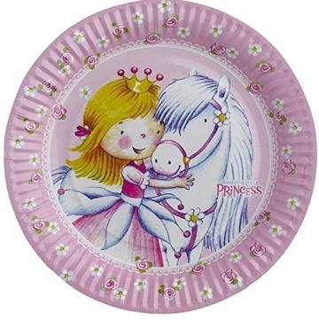 "Party-Teller: Pappteller, ""kleine Prinzessin"", 23 cm, 8er-Pack - 1"
