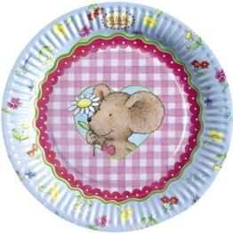 """Party-Teller: Pappteller, """"Lillebi Flowers"""", 23 cm, 8er-Pack - 1"""
