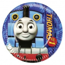 Party-Teller: Pappteller mit der Lokomotive Thomas, 23 cm, 8er-Pack - 1