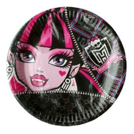 Party-Teller: Pappteller, Monster High, 23 cm, 8er-Pack - 1