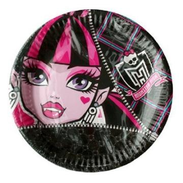 Party-Teller: Pappteller, Monster High, 23 cm, 8er-Pack - 1