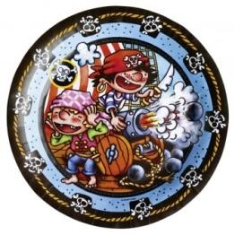 """Party-Teller: Pappteller, Motiv """"Kleiner Pirat"""", 23 cm, 8 Stück - 1"""