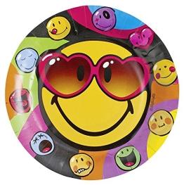 "Party-Teller: Pappteller, Motiv ""Smiley Express Yourself"", 23 cm, 8 Stück - 1"
