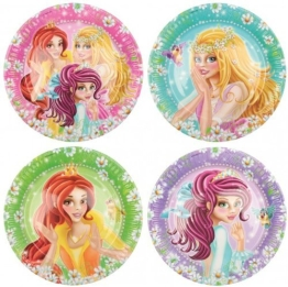 Party-Teller: Pappteller, Prinzessin, 23 cm, 8er-Pack - 1