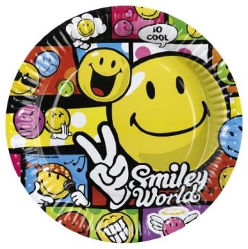 """Party-Teller: Pappteller, """"Smiley World"""" Comic, 23 cm, 8er-Pack - 1"""