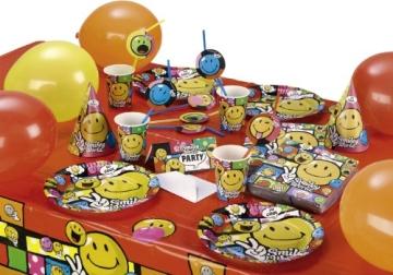 """Party-Teller: Pappteller, """"Smiley World"""" Comic, 23 cm, 8er-Pack - 2"""
