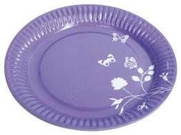 Party-Teller: Pappteller, Sommermotiv Daisy, lila, 23 cm, 8er-Pack - 1
