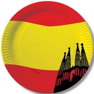 Party-Teller: Pappteller, Spanien-Design, 23 cm, 10er-Pack - 1
