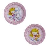 """Party-Teller: Pappteller, """"Sweet Little Princess"""", 18 cm, 8er-Pack - 1"""