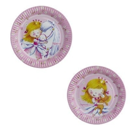 "Party-Teller: Pappteller, ""Sweet Little Princess"", 18 cm, 8er-Pack - 1"