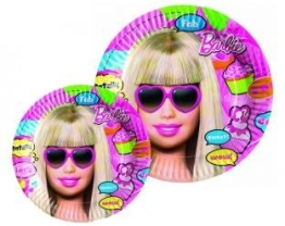 "Party-Teller: Pappteller, ""Totally Barbie"", 18 cm, 8er-Pack - 1"