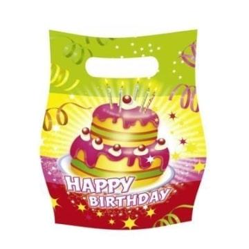 """Party-Tüten: Geschenktüten, """"Happy Birthday"""", 6er-Pack - 1"""