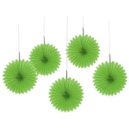Partyfächer grün 50cm, Restposten Partydeko - 1