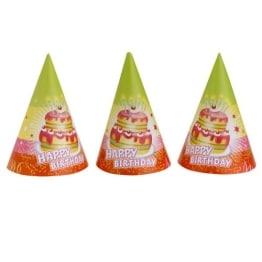 """Partyhut: Partyhütchen, """"Happy Birthday"""", 6 Stück - 1"""