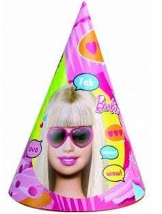 """Partyhut: Partyhütchen, """"Totally Barbie"""", 6 Stück - 1"""
