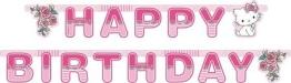 Partykette: Geburtstagskette, Hello Kitty/Charmmy Kitty, 180 x 15 cm - 1