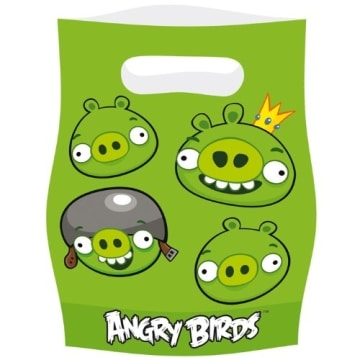 """Partytüten: Geschenktüten, Motiv """"Angry Birds"""", 6 Stück - 1"""