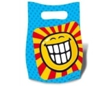 Partytüten SMILEY, 6er-Pack Dekoration Smileys - 1
