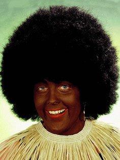 Perücke: Afrikaner-Perücke mit Afro-Kopf, schwarz - 1