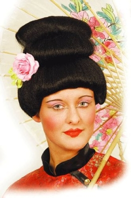 """Perücke: Asiatin-Perücke """"Asian Lady"""", schwarz - 1"""