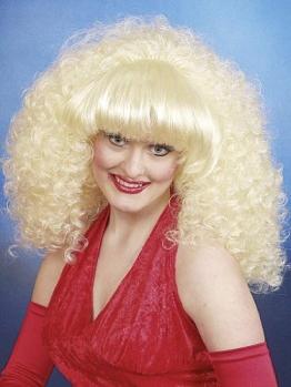 """Perücke: """"Dolly"""", blond, kleine Locken, volles Haar - 1"""