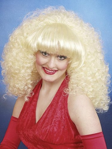 Perucke Dolly Blond Kleine Locken Volles Haar