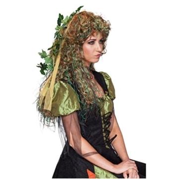 Perücke: Elfe-Perücke, lange Locken, mit Blättern durchsetzt - 2