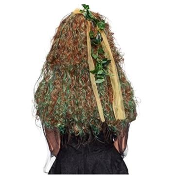 Perücke: Elfe-Perücke, lange Locken, mit Blättern durchsetzt - 3