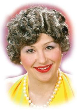 """Perücke """"Greta"""", braun, leicht gelockt, 30er-Jahre-Stil - 1"""