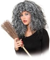 Perücke: Hexenperücke, Crazy Witch, grau, Glitterfäden - 1