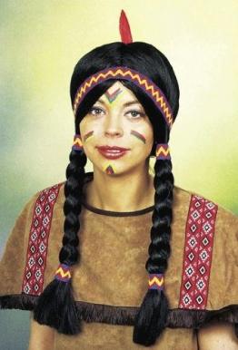 Perücke: Indianer-Perücke, Apache, schwarz - 1