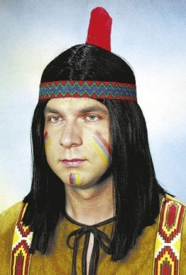 """Perücke: Indianer-Perücke """"Dakota"""", schwarz - 1"""