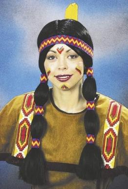 """Perücke: Indianer-Perücke """"Squaw"""", schwarz - 1"""