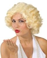 Perücke, kurzes Marylin-Haar, blond oder schwarz - 1