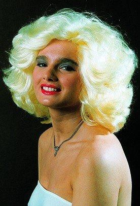 Perücke, kurzes Marylin-Haar, blond oder schwarz - 3