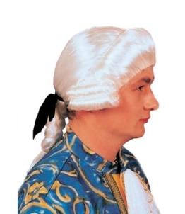 Perücke: Rokoko-Perücke, Herren, weiß, grau, natur - 1