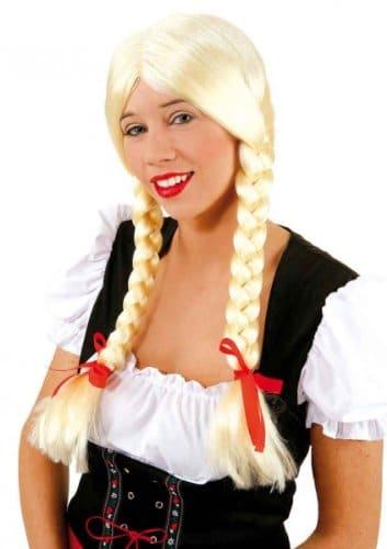 "Perücke: Zopfperücke ""Heidi"", blond - 1"