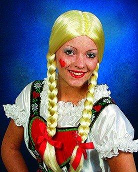 "Perücke: Zopfperücke ""Heidi"", blond - 2"